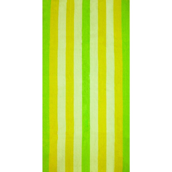 "J & M Home Fashions Bright Terry 29""""x59"""" Cabana Stripe Beach Towel (set of 2)"