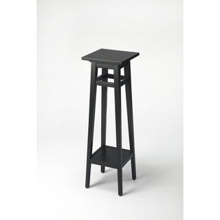 Handmade Butler Bungalow Black Licorice Wood/MDF Tiered Plant Stand (China) (Option: Black)