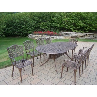 Dakota Cast Aluminum 9-piece Outdoor Dining Set