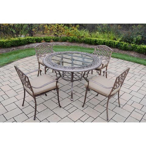 Dakota Cast Aluminum 5-piece Patio Dining Set