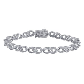 Divina Silver-plated Brass Diamond Accent Fashion Bracelet