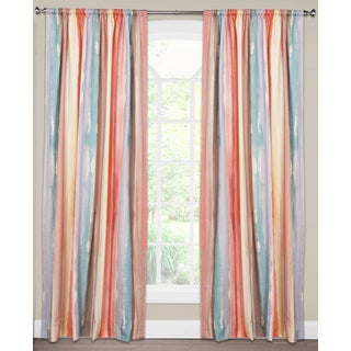 Savannah Watercolor Stripe Cotton Curtain Panel
