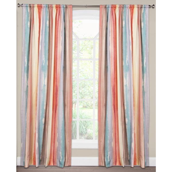 Savannah Watercolor Stripe Cotton Curtain Panel
