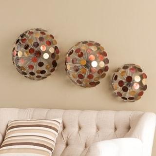 Harper Blvd Jacey 3pc Metal Sphere Wall Sculpture Set
