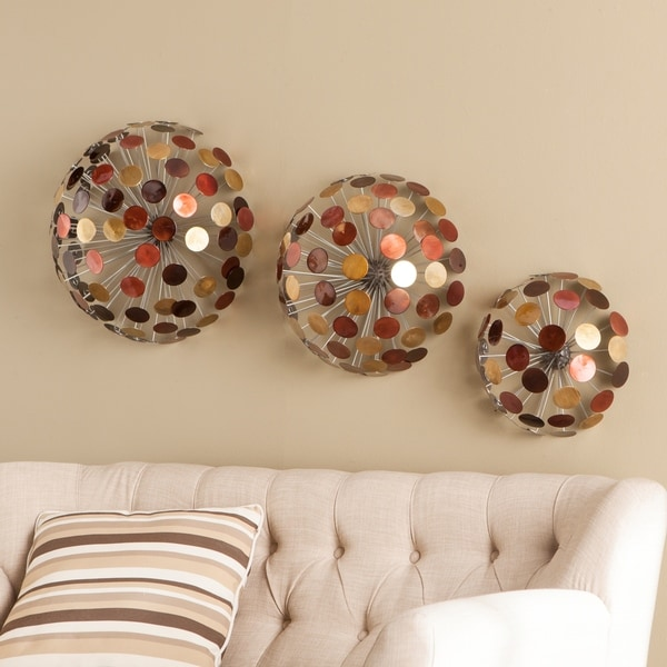 Strick & Bolton Sinatra 3-piece Metal Sphere Wall Sculpture