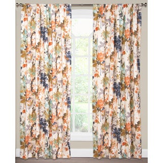 SIScovers Multicolor Cotton Floral Curtain Panel