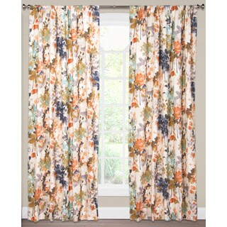 SIScovers Multi-color Cotton Floral Curtain Panel