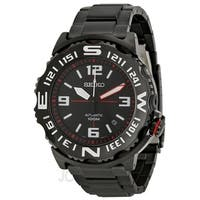 Seiko Men's  'Superior Automatic' Automatic Black Stainless Steel Watch