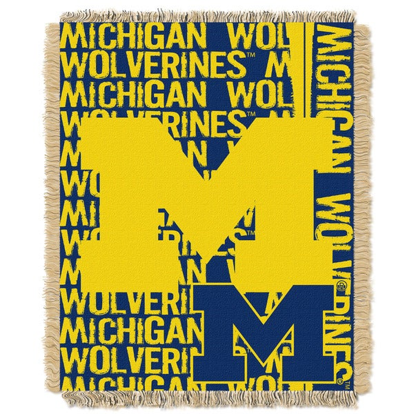 Official Collegiate Michigan 'Double Play' 46 x 60-inch Triple Woven Jacquard Throw by The Northwest Company