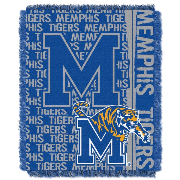 Official Collegiate 'Double Play' 46 x  60-inch  Triple Woven Jacquard Throw by The Northwest Company