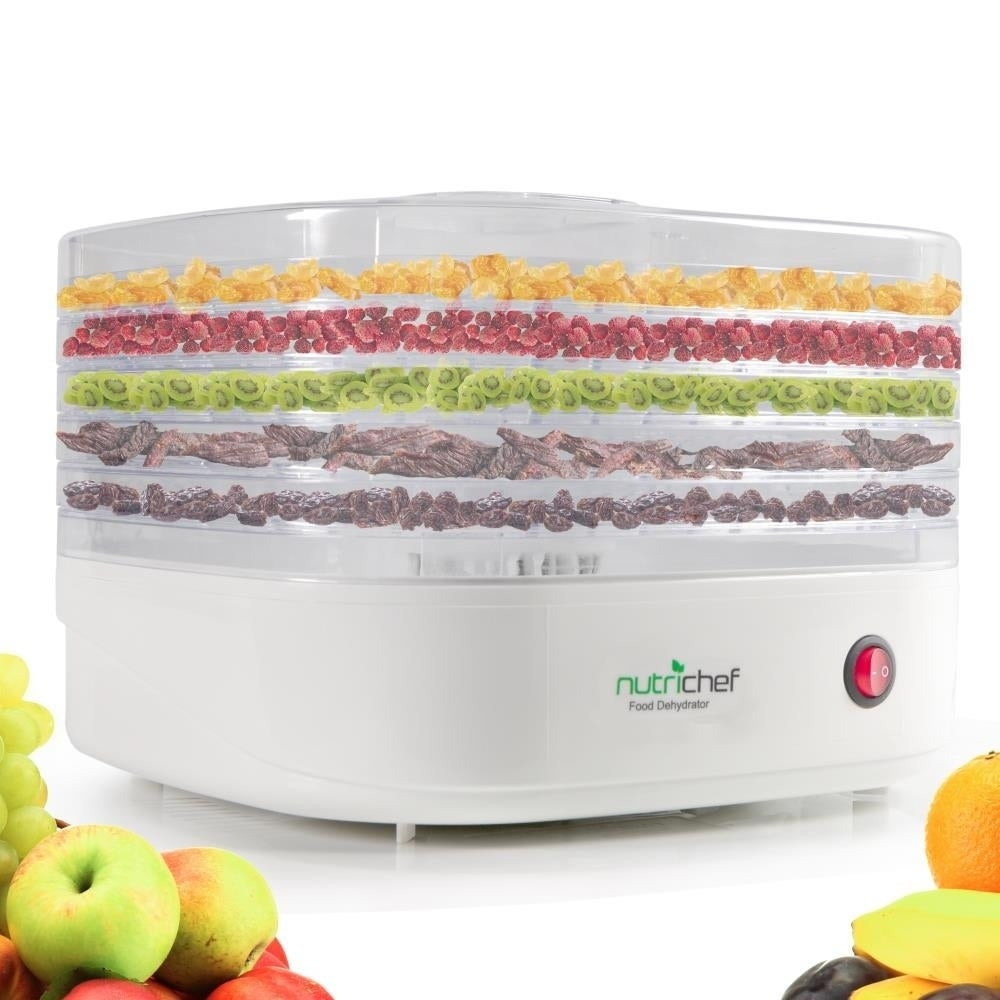 NutriChef PKFD06 White Plastic Electric Countertop Food D...