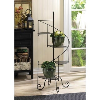 Spiral Metal 4-Step Plant Stand