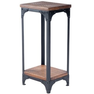 Butler Gandolph Industrial Chic Rectangular Pedestal Stand - MultiColor