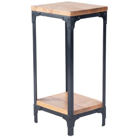 Butler Grimsley Multicolor Iron/Wood Pedestal Stand