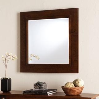 Harper Blvd Dorsey Oak Saddle Decorative Mirror