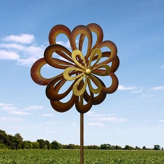 Iron Flower Spinning Windmill
