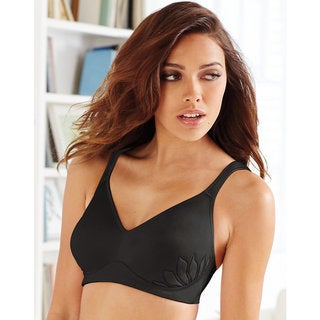 Bali Women's Live It Up Nude/Black/White Cotton/Polyester/Spandex/Nylon Wirefree Bra