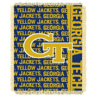 Official Collegiate Georgia Tech 'Double Play' 46 x 60-inch Triple Woven Jacquard Throw by The Northwest Company
