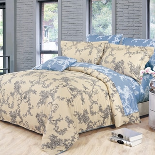 Renaissance Cotton 4-Piece Queen-size Duvet Cover Set
