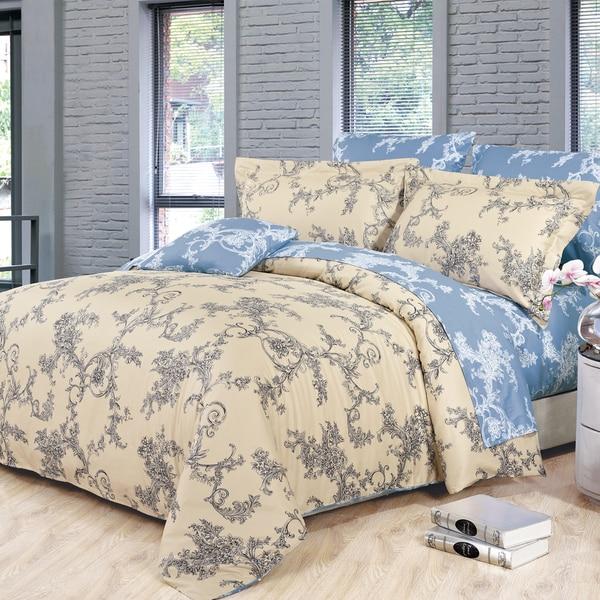 Renaissance Cotton 4-Piece Queen-size Duvet Cover Set