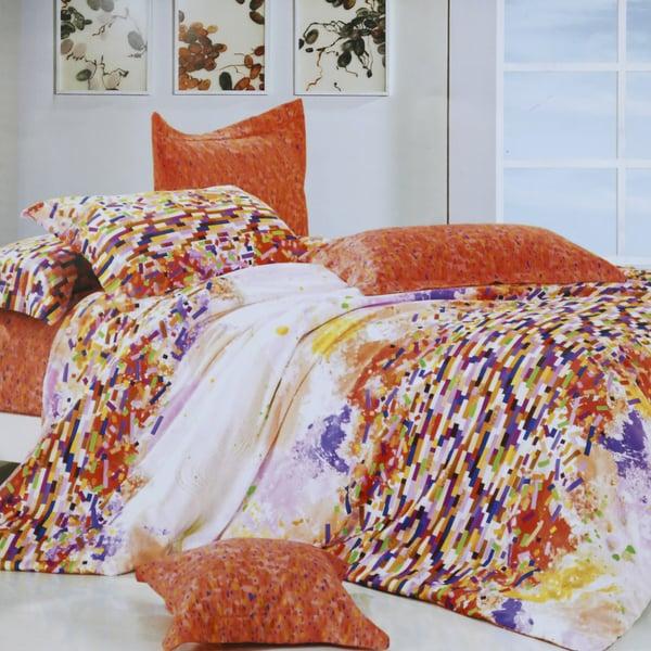 Zest Floral Cotton 4-Piece Duvet Cover Set