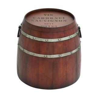 American Cowboy Themed Classy Metal Barrel Table