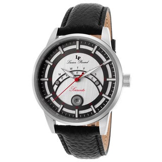Lucien Piccard Men's Black Leather Watch