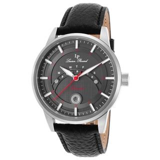 Lucien Piccard Men's Black Leather Watch