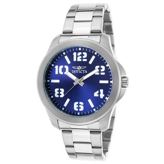 Invicta Men's Specialty Stainless Steel Blue Dial Watch