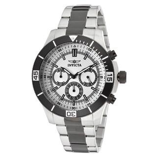 Invicta Black/Silvertone Stainless Steel Watch