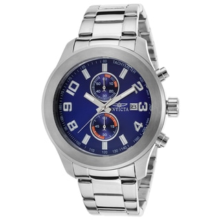 Invicta Blue Stainless Steel Watch