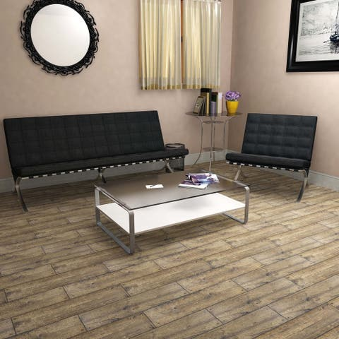 SomerTile 5.875x23.625-inch Cabana Brown Ceramic Floor and Wall Tile (12 tiles/12.2 sqft.)