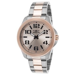 Invicta Specialty Rosetone/Silvertone Stainless Steel Watch