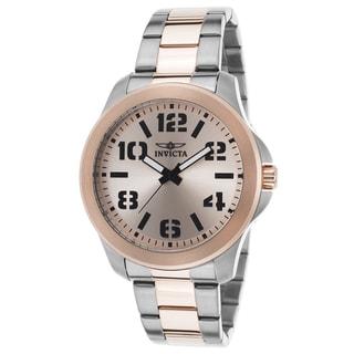 Invicta Specialty Rosetone/Silvertone Stainless Steel Watch