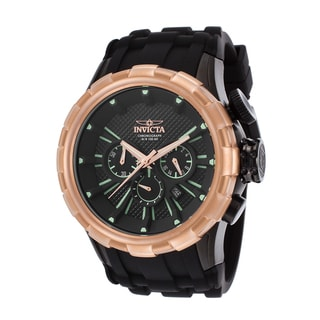 Invicta Black Silicone/Stainless Steel Watch