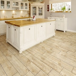 SomerTile 5.875x23.625-inch Cabana Beige Ceramic Floor and Wall Tile (12  tiles/12.2 sqft.) | Overstock.com Shopping - The Best Deals on Floor Tiles