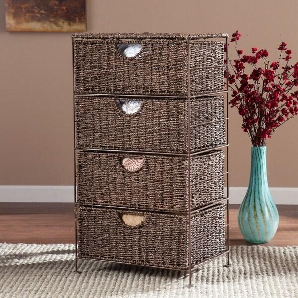 Kerry Seagrass 4-Drawer Storage