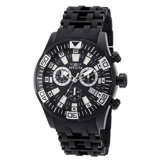 Invicta Men's Sea Spider Black Stainless Steel Chronograph Watch