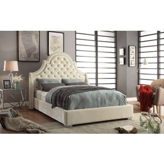 Meridian Madison Cream Velvet Bed