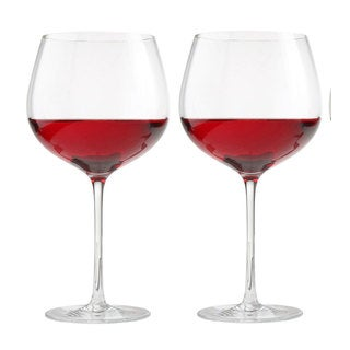 Oneida Couplets Aquarius Clear Balloon Wine Glasses (Set of 2)
