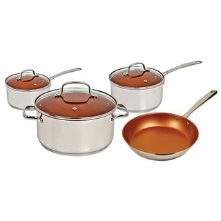 NuWave 7 Piece Cookware Set, Silver