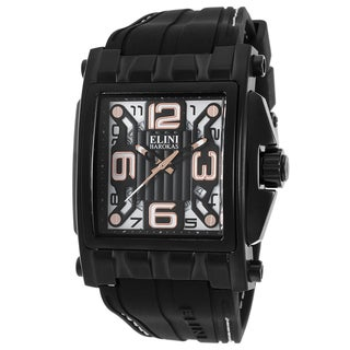 Elini Barokas Men's Black/White Silicone Watch