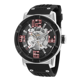 Elini Barokas Men's Spirit Stainless Steel Black Silicone Watch