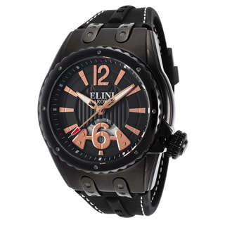 Elini Barokas Black/Rose Stainless Steel Watch