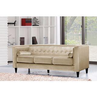 Meridian Taylor Beige Velvet Sofa