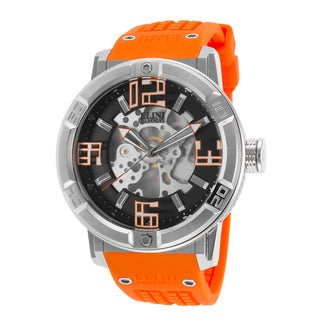 Elini Barokas Men's Orange Silicone Watch