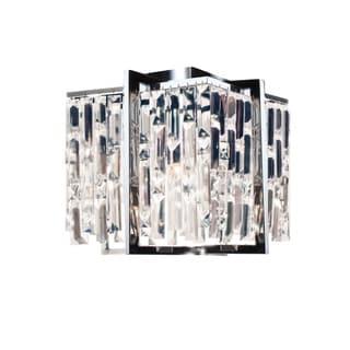 Dainolite Polished Chrome Steel 4-light 12-inch Flush Mount Crystal