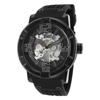 Elini Barokas Men's Black Silicone Watch