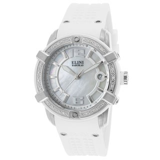 Elini Barokas Spirit White/Mother of Pearl Synthetic/Silicone/Stainless Steel Watch