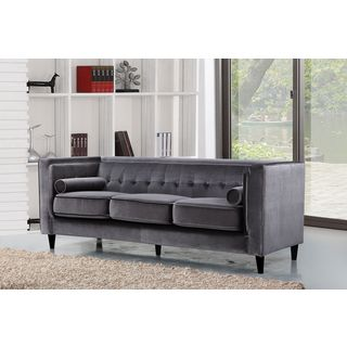 Meridian Taylor Grey Velvet Sofa